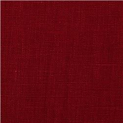 European 100% Washed Linen Scarlet
