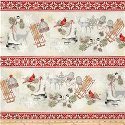 Winter Celebration Border Stripe Multi