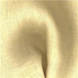 European Linen Fabric Butter Yellow
