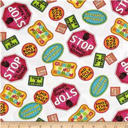 Take A Stand Anti-Bullying Tossed Patches White