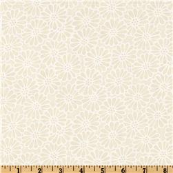 110'' Wide Quilt Backing Daisy Ivory