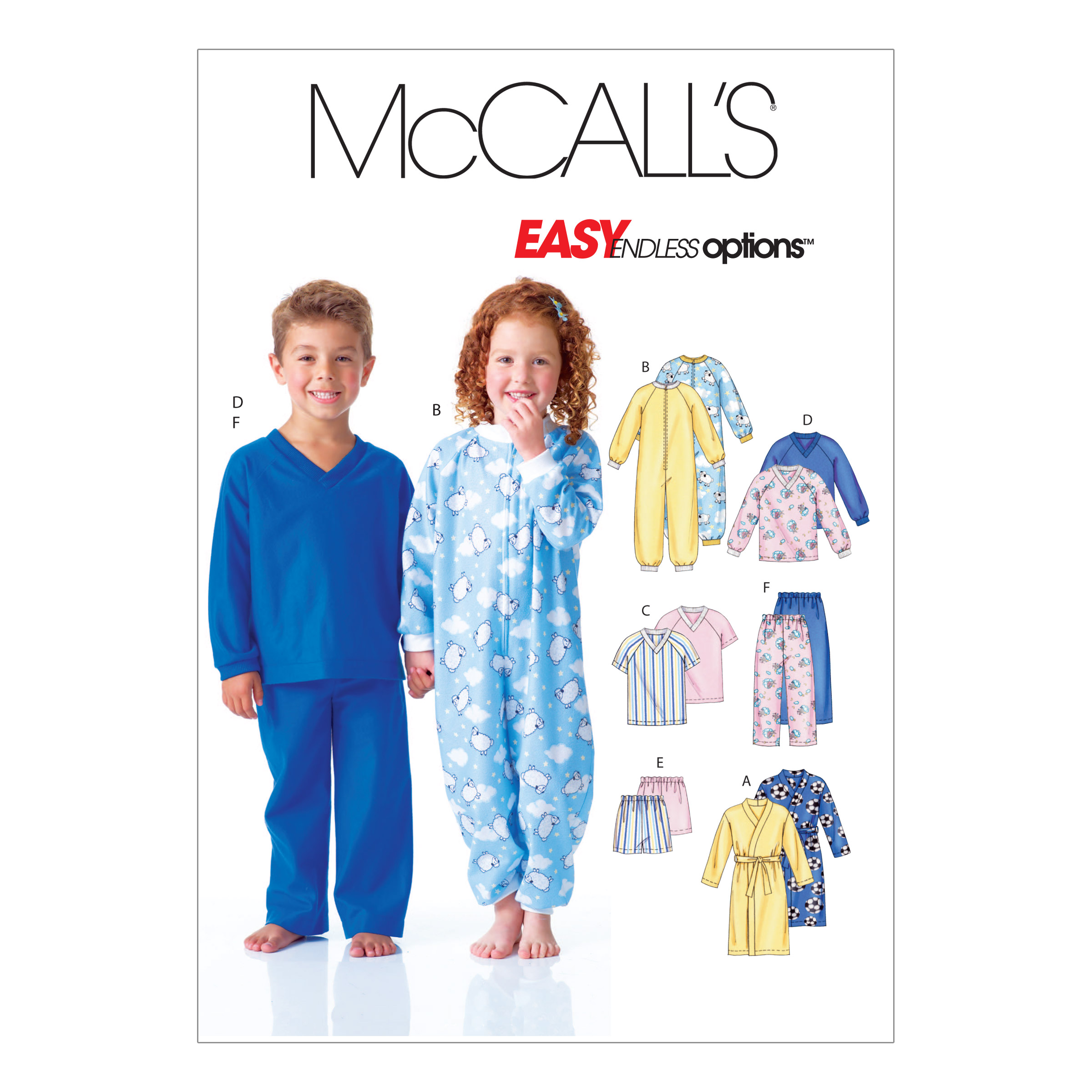 McCall's Children's Robe Top Shorts and Pants Pattern M6224 Size CB0 by Kwik Sew in USA