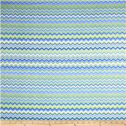 Chevron Flannel Perwinkle/Green