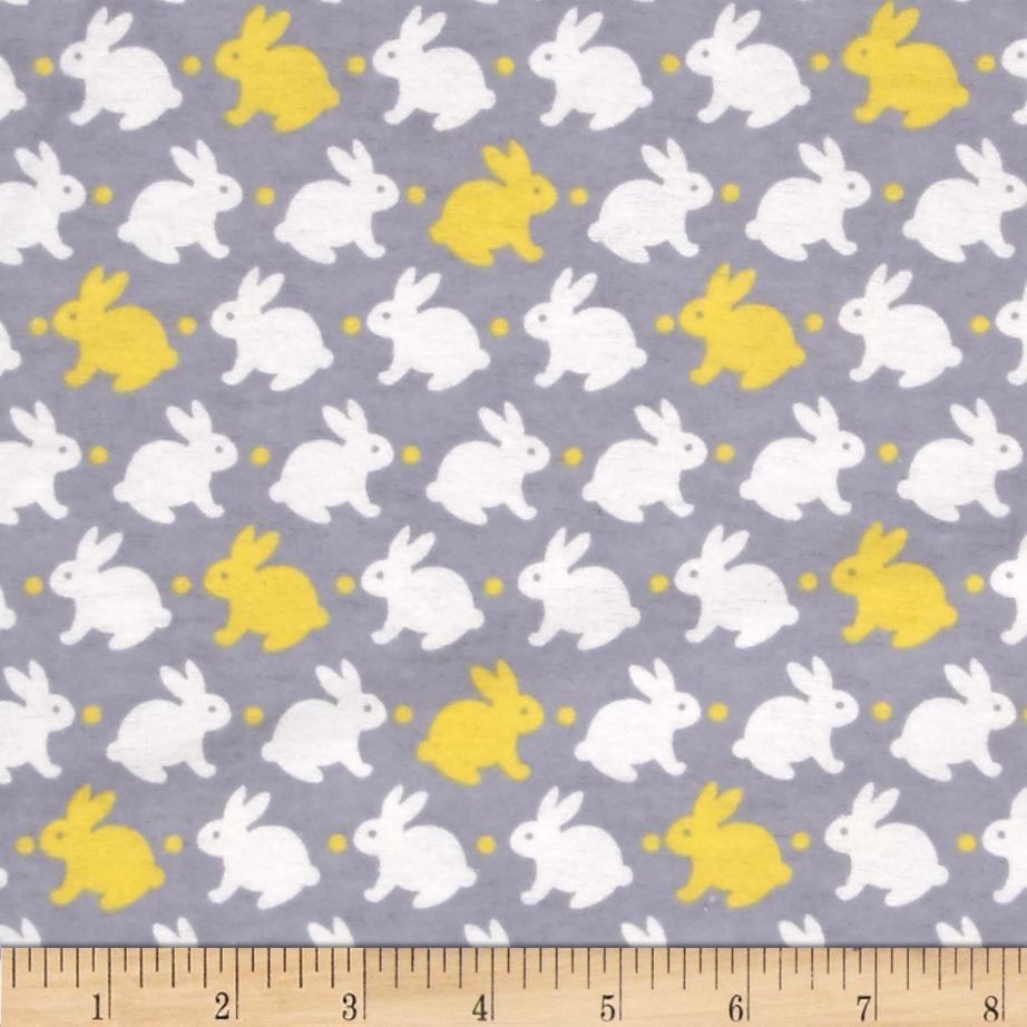 Flannelland Bedtime Bunny Grey/Yellow