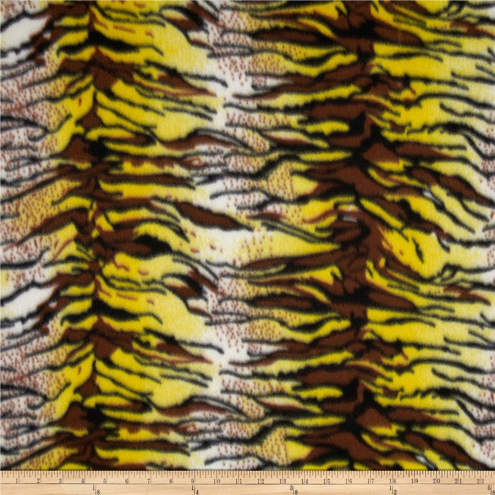 Printed Fleece Tiger Yellow