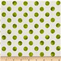 Kaufman Garden Splendor Dots Green