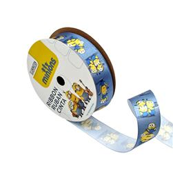 "7/8"" Minions Ribbon 3D Blue"