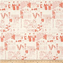 Riley Blake Fancy & Fabulous Pattern Coral