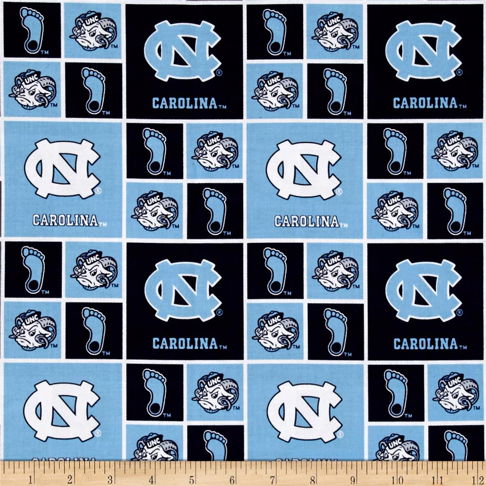 Collegiate Cotton Broadcloth Univeristy of North Carolina Tar Heels