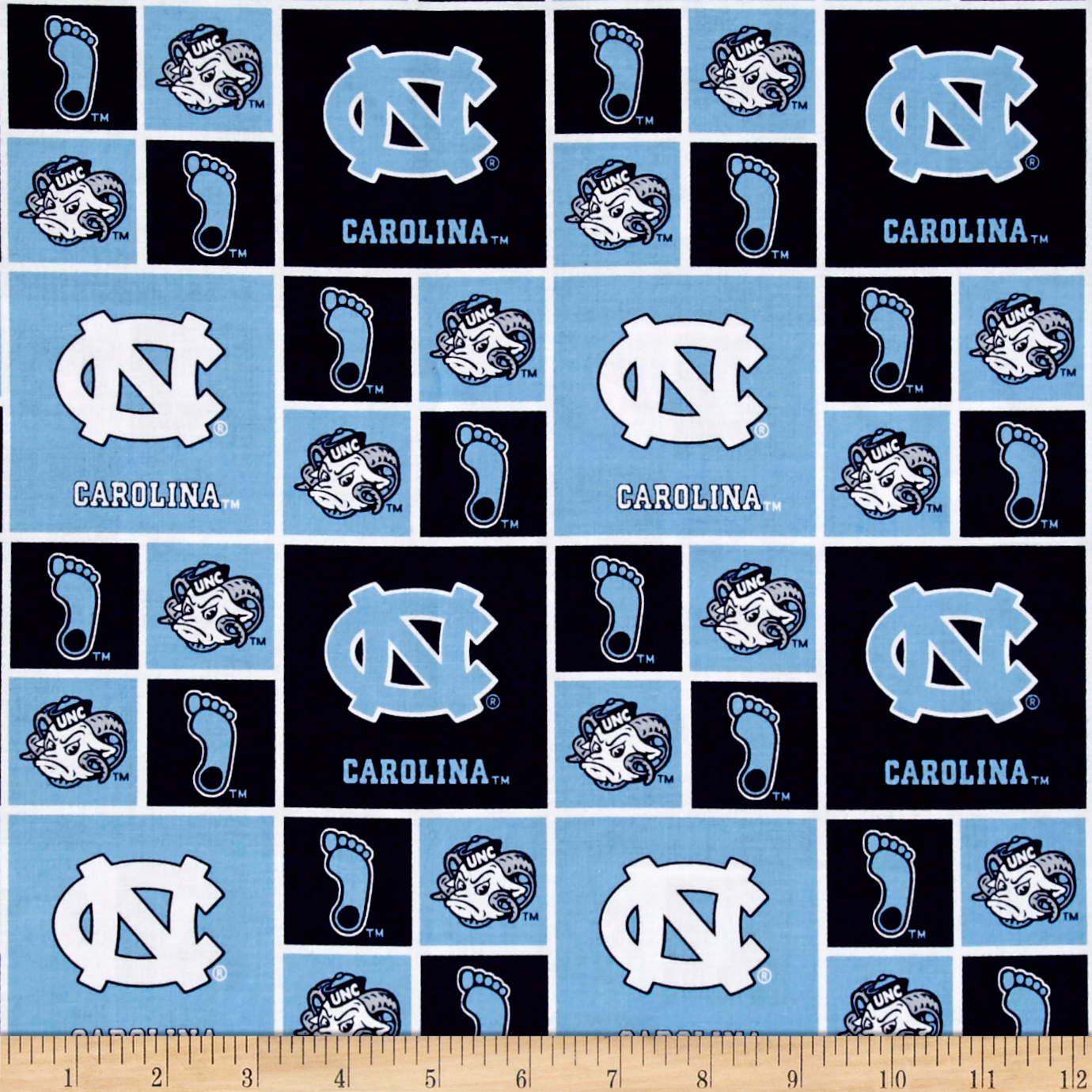 Collegiate Cotton Broadcloth Univeristy of North Carolina Tar