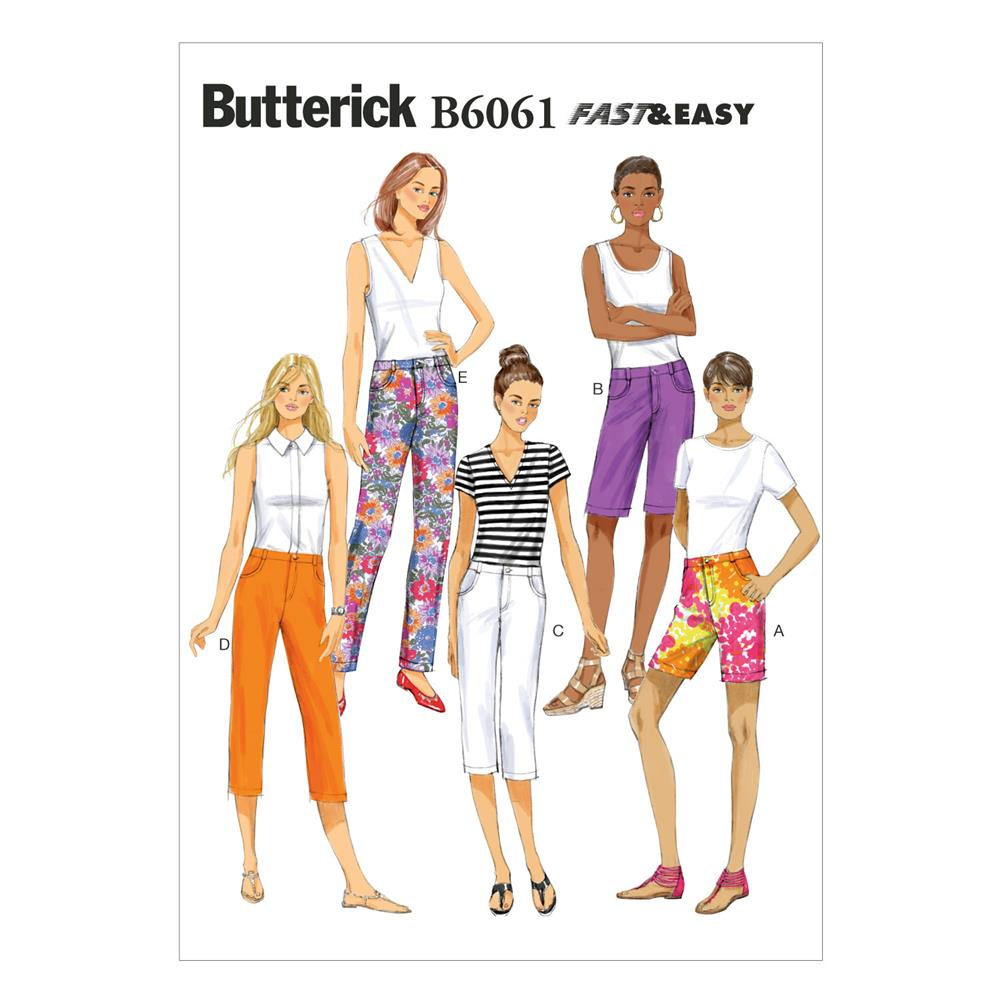 Butterick Misses' Pants Pattern B6061 Size A50