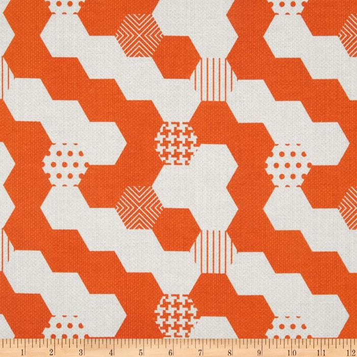 Michael Miller Textured Basics Hexies Papaya