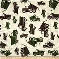 Premier Prints Toy Trucks Natural/Camo