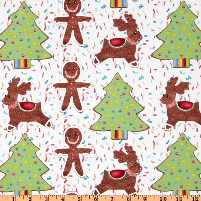 Michael Miller Cookie Cutouts Vanilla Fabric