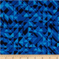 108 In. Quilt Wide Back Prisms Blue Fabric