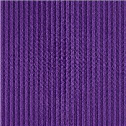 Hatchi Sweater Rib Knit Solid Purple