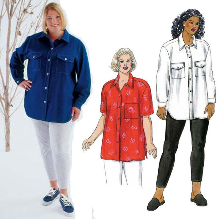 Kwik Sew Shirts & Leggings Plus Size Pattern