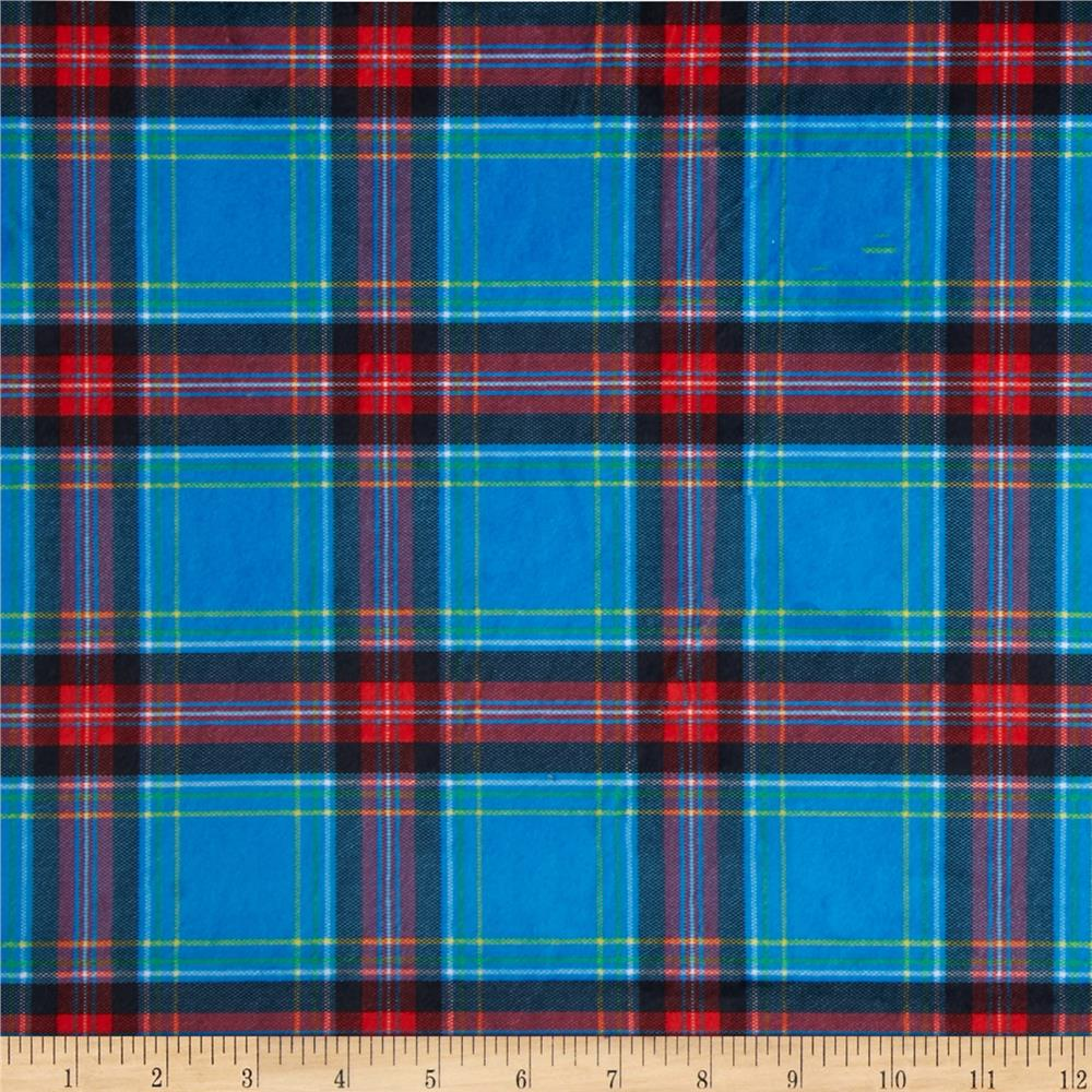 Minky New Plaid Blue
