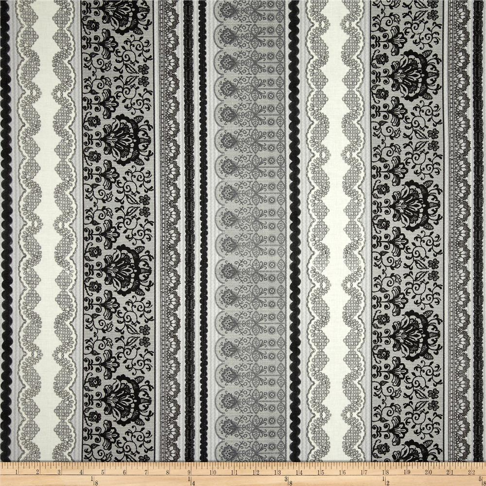 Le Jardin Wallpaper Grey/White