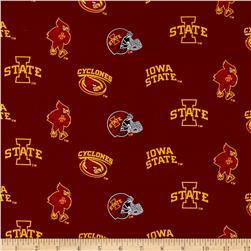 Collegiate Cotton Broadcloth Iowa State University Cardinal