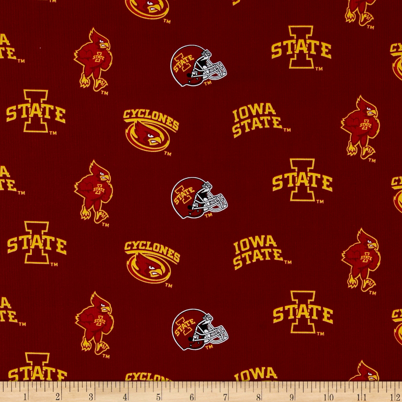 Collegiate Cotton Broadcloth Iowa State University Fabric