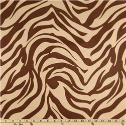 Contempo Microsuede Zebra Brown