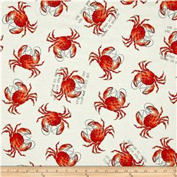 She Sews Sea Shells Crab Toss Ecru/Tomato