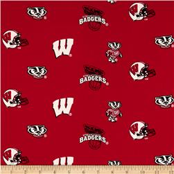 Collegiate Cotton Broadcloth University of Wisconsin Cardinal