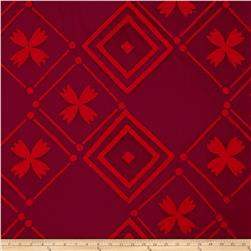 Alison Glass Handcrafted Patchwork Batik Tile Brick Red
