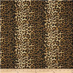 Poly/Cotton Twill Leopard Print Brown/Cream Fabric
