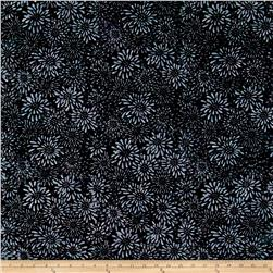 Wilmington Batiks Dancing Petals Black