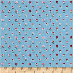 Benartex Simply Chic Floret Sky Blue