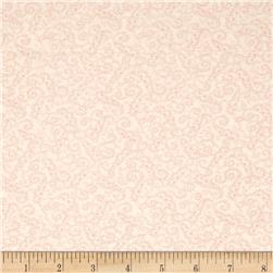 Moda Whitewashed Cottage Scrolls Linen-Rose