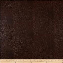 Faux Leather Ostrich Brown