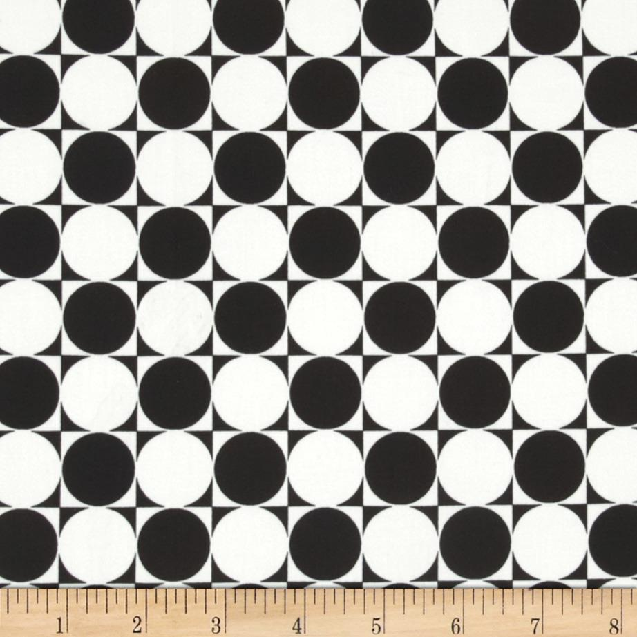 Harlequin Stretch Cotton Sateen Disco Tile Black/White