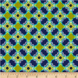 Twilium Floral Tiles Navy