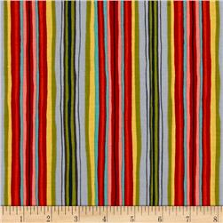 Michael Miller Sea Holly Ribbon Stripe Orange