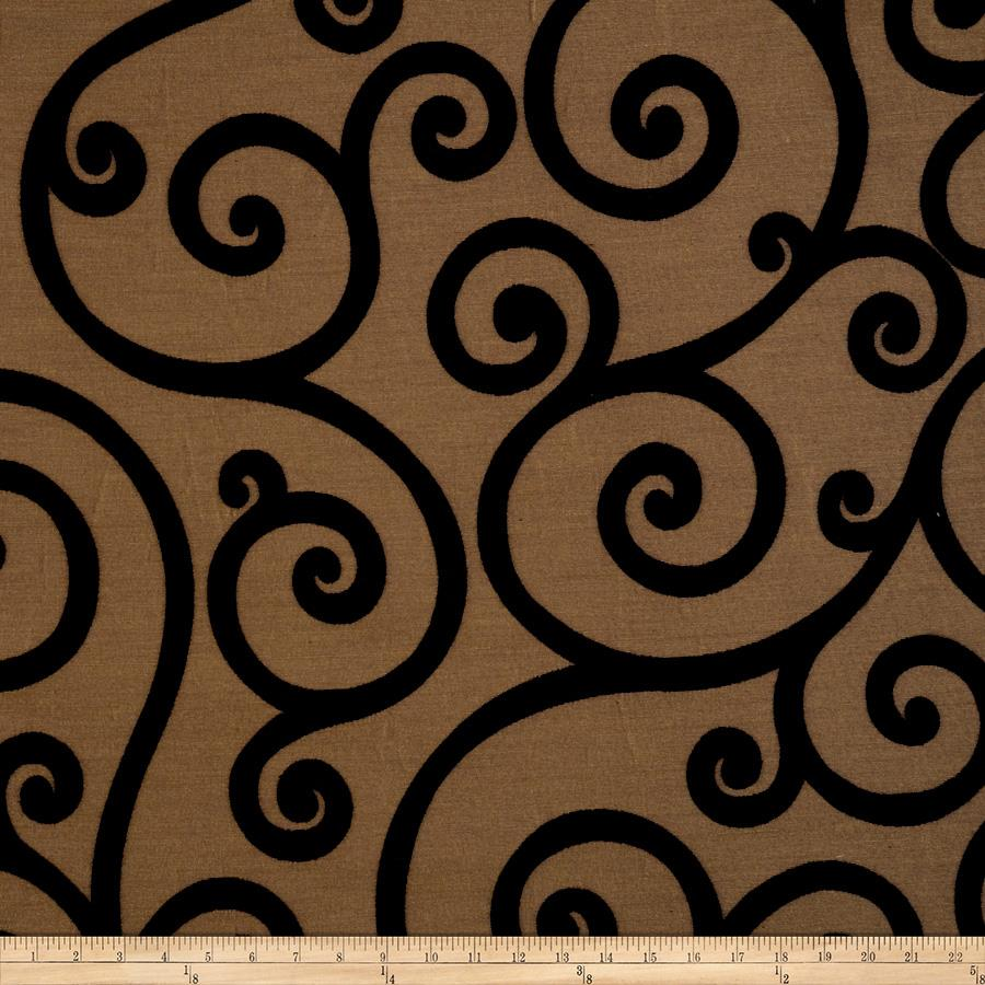 Jaclyn Smith 01845 Chenille Jacquard Scroll Jet