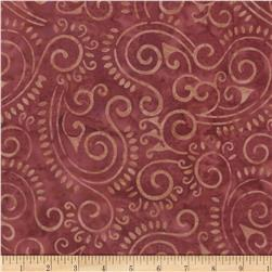 Wilmington Batiks Scroll Coral
