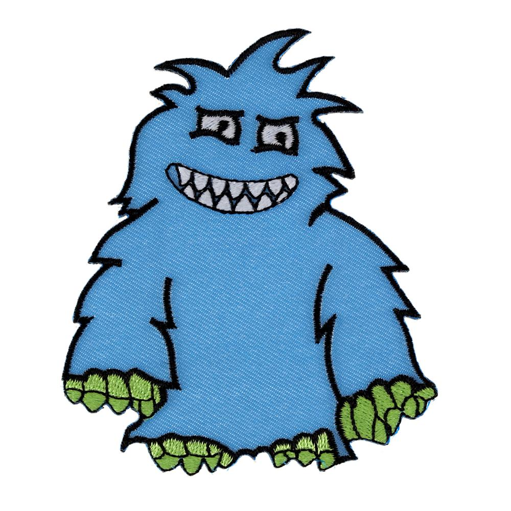 Monster with Horns Applique Light Blue