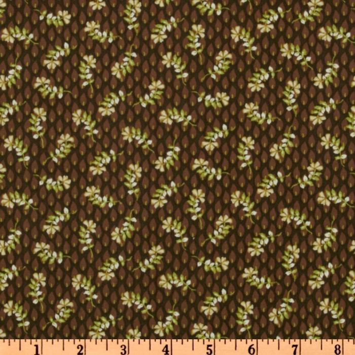 Halo Floral Toss Dark Brown