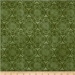 Timeless Treasures Exotic Tonal Medallion Green