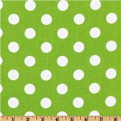 Forever Large Polka Dot Lime Fabric