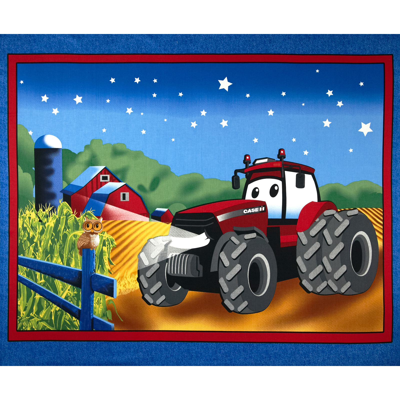 Case IH Kid's 36'' Panel Blue Fabric