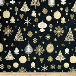 Magical Moments Gold Metallic Trees, Snowflakes & Ornaments Grey