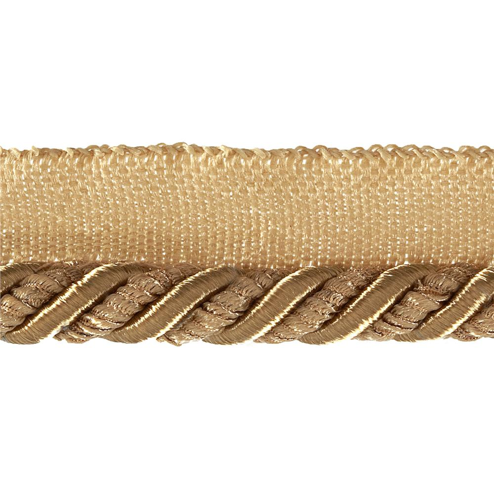 "Helena 3/8"" Decorative Lip Cord Trim Gold"