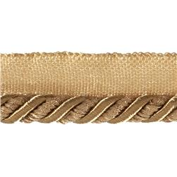 Helena 3/8'' Decorative Lip Cord Trim Gold