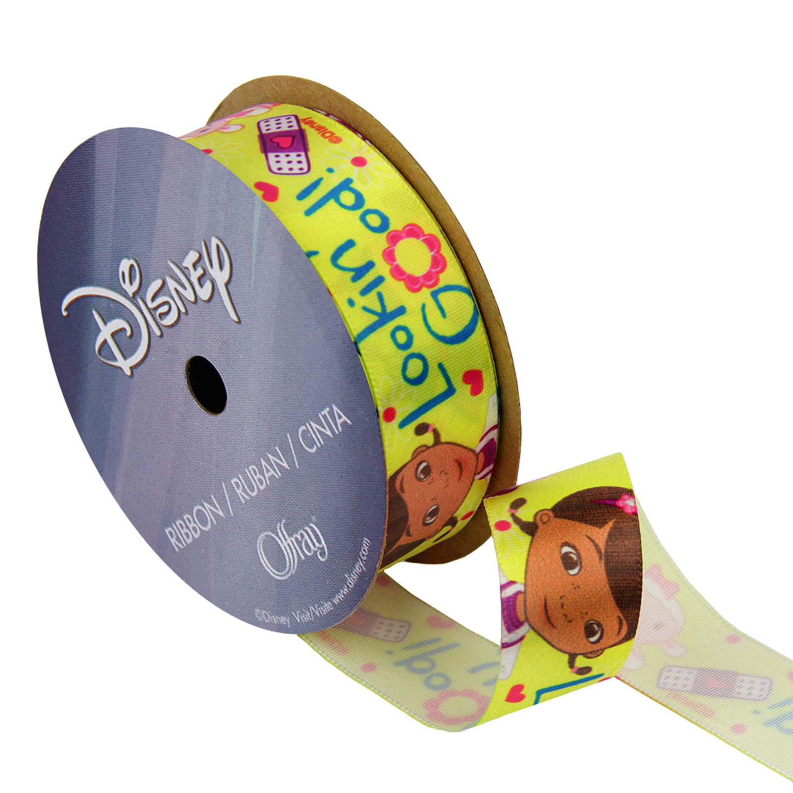 7/8'' Doc McStuffins Ribbon Looking Good Green by Stardom Specialty in USA