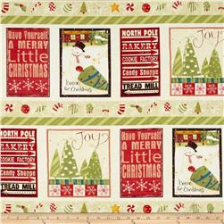 Santa's On His Way Large Pictorial Stripe Light Butter