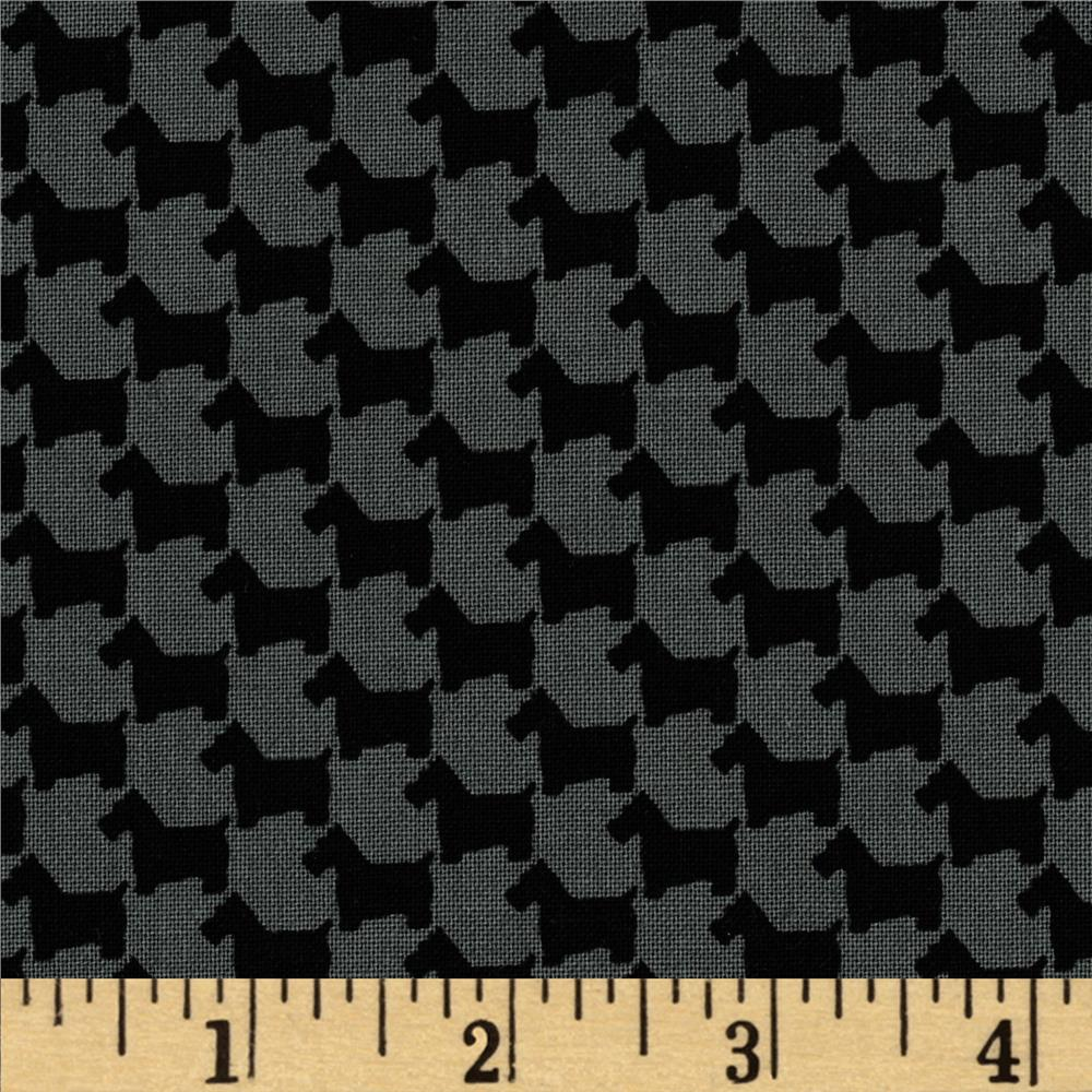Michael Miller Scottie Houndstooth Graphite